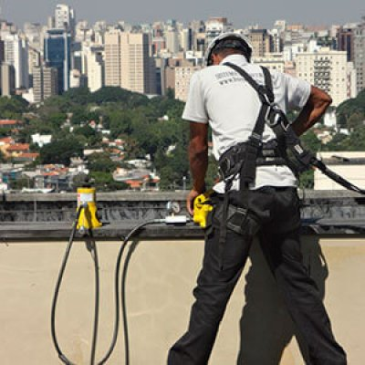 Vistoria em pontos de ancoragem em Guarulhos - SP