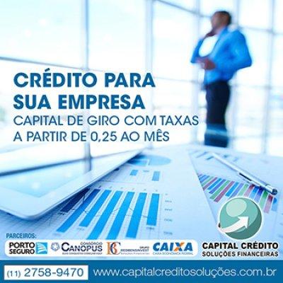 Crédito para capital de giro em Mogi das Cruzes - SP