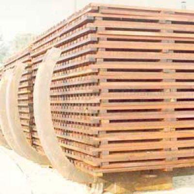 Esteios para proteção de fornos em Itu - SP