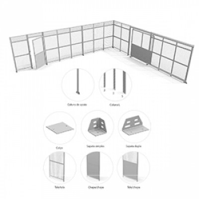 Divisória para sistemas de armazenagem