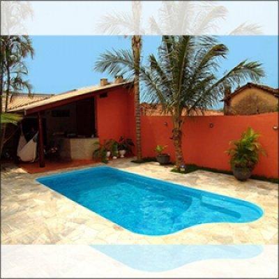 Construção de piscina em fibra em Atibaia - SP
